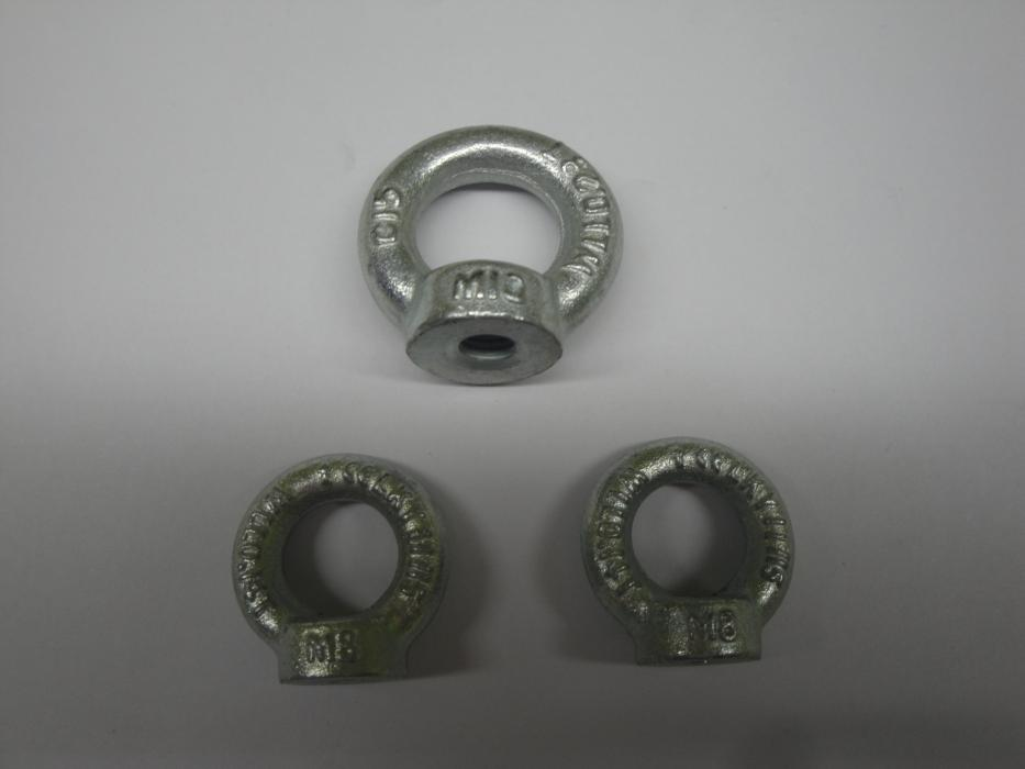 GALV. DIN582 C15 FORGED EYE NUTS