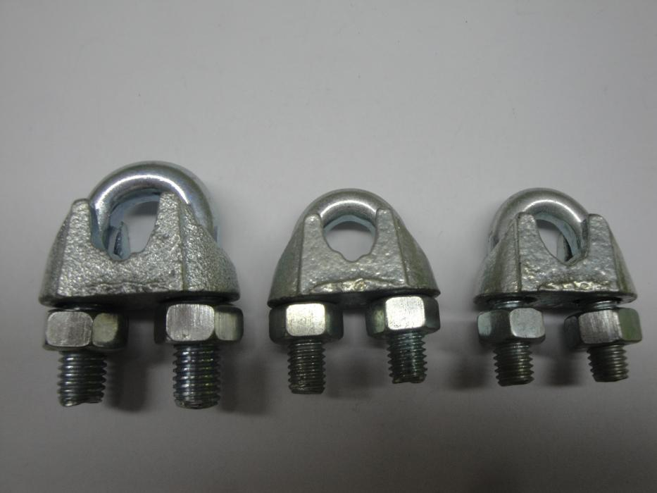 Galvanized DIN741 malleable steel Wire rope clips